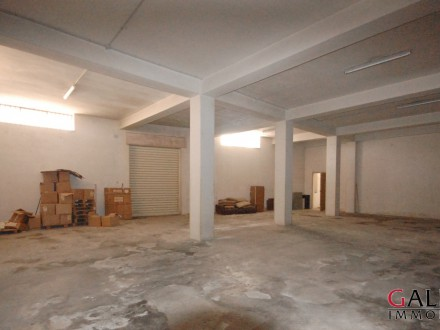 Ground floor corner premises classified as a warehouse and storage.